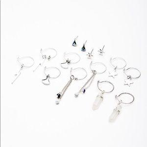 """Free People """"In The Loop"""" Earring Set (silver)"""